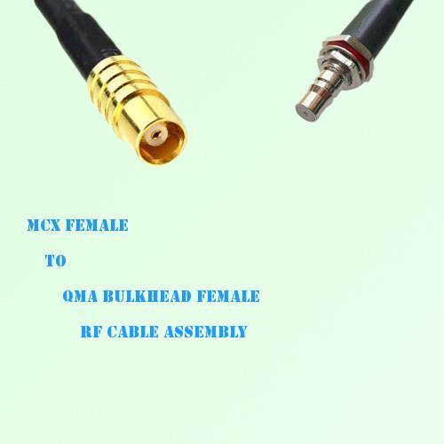 MCX Female to QMA Bulkhead Female RF Cable Assembly