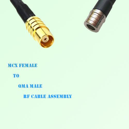 MCX Female to QMA Male RF Cable Assembly