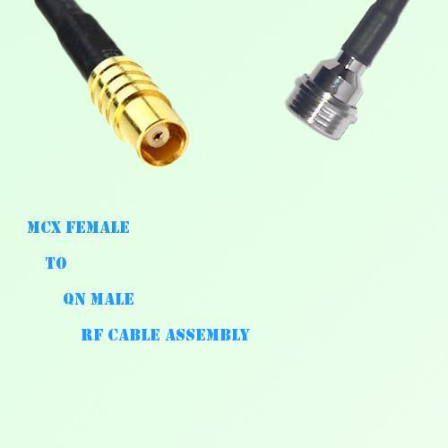 MCX Female to QN Male RF Cable Assembly