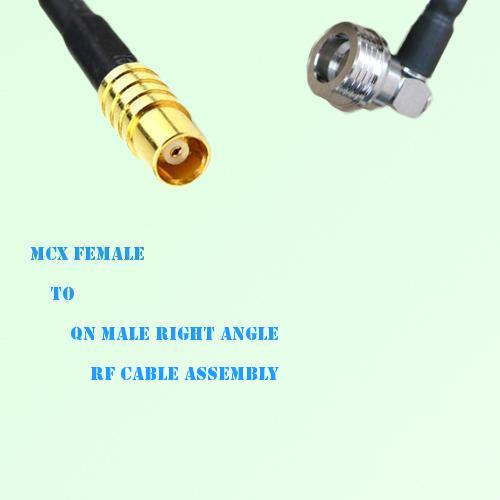 MCX Female to QN Male Right Angle RF Cable Assembly