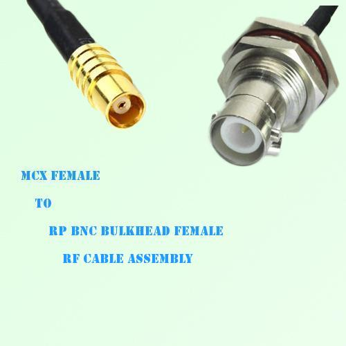 MCX Female to RP BNC Bulkhead Female RF Cable Assembly
