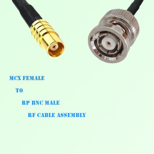 MCX Female to RP BNC Male RF Cable Assembly