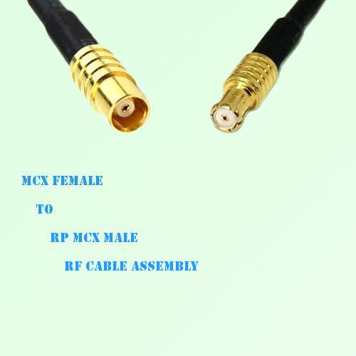 MCX Female to RP MCX Male RF Cable Assembly