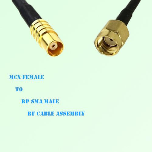 MCX Female to RP SMA Male RF Cable Assembly