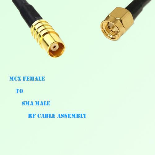 MCX Female to SMA Male RF Cable Assembly