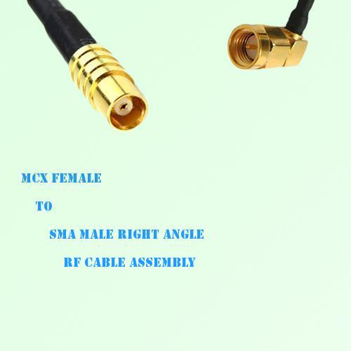 MCX Female to SMA Male Right Angle RF Cable Assembly