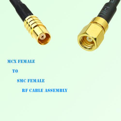 MCX Female to SMC Female RF Cable Assembly