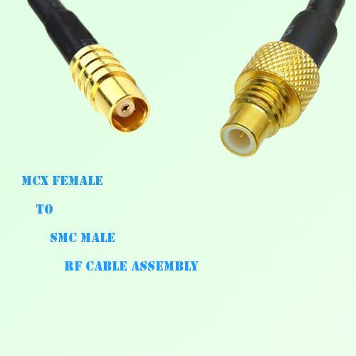 MCX Female to SMC Male RF Cable Assembly