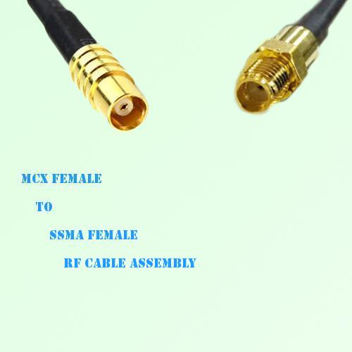 MCX Female to SSMA Female RF Cable Assembly
