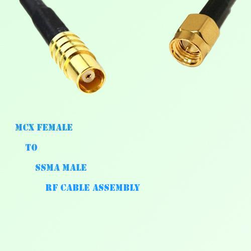 MCX Female to SSMA Male RF Cable Assembly