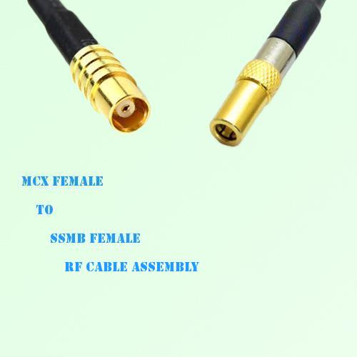 MCX Female to SSMB Female RF Cable Assembly