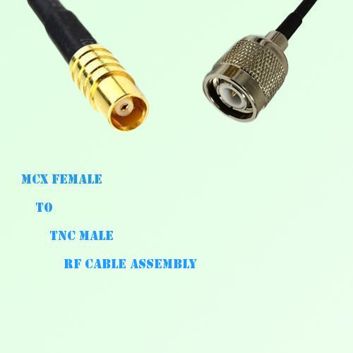 MCX Female to TNC Male RF Cable Assembly