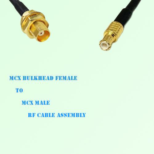 MCX Bulkhead Female to MCX Male RF Cable Assembly