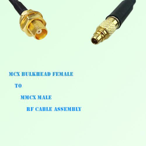 MCX Bulkhead Female to MMCX Male RF Cable Assembly