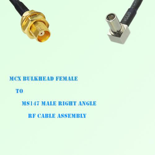 MCX Bulkhead Female to MS147 Male Right Angle RF Cable Assembly