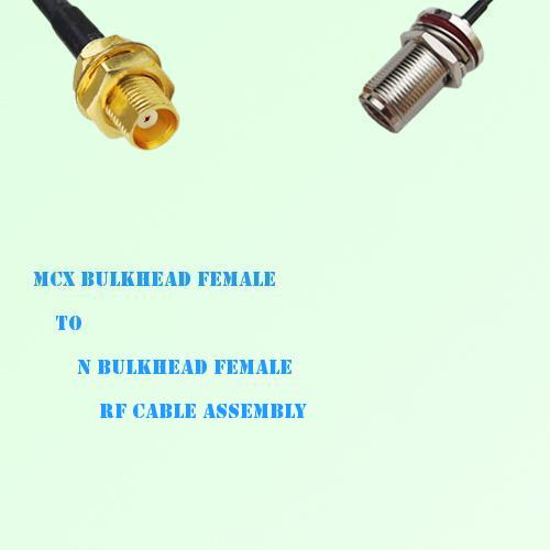 MCX Bulkhead Female to N Bulkhead Female RF Cable Assembly