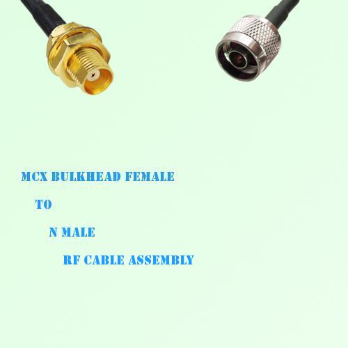 MCX Bulkhead Female to N Male RF Cable Assembly
