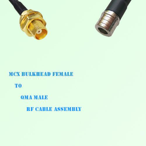 MCX Bulkhead Female to QMA Male RF Cable Assembly