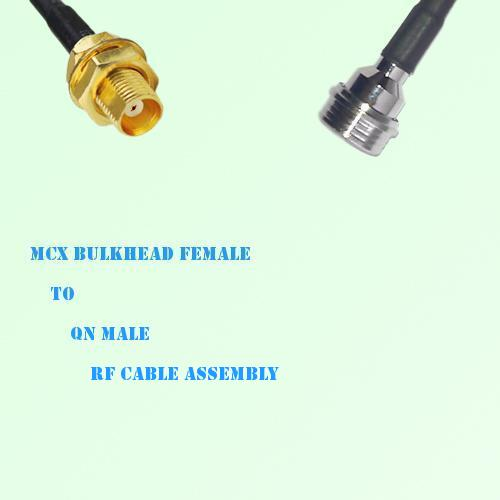 MCX Bulkhead Female to QN Male RF Cable Assembly