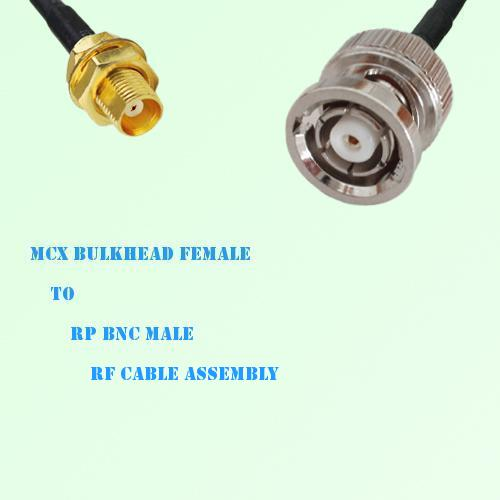 MCX Bulkhead Female to RP BNC Male RF Cable Assembly