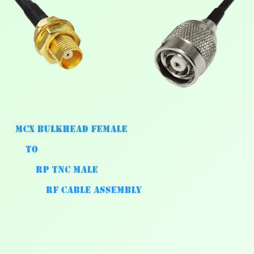MCX Bulkhead Female to RP TNC Male RF Cable Assembly