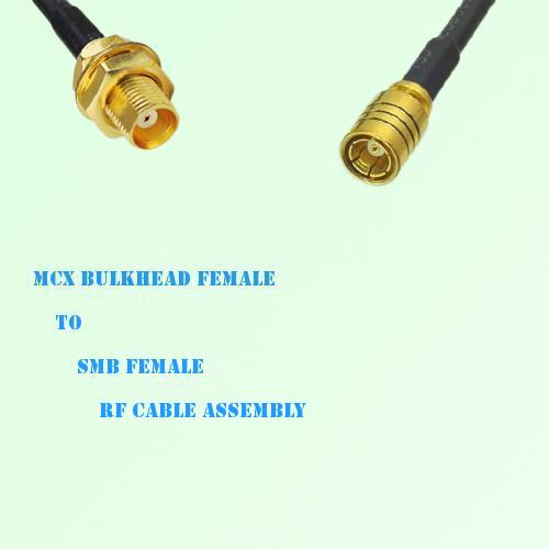 MCX Bulkhead Female to SMB Female RF Cable Assembly