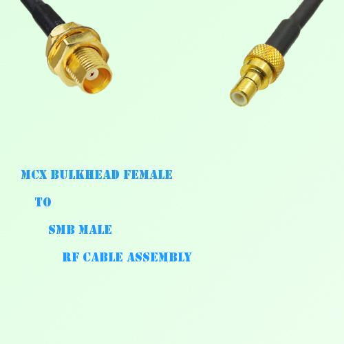 MCX Bulkhead Female to SMB Male RF Cable Assembly