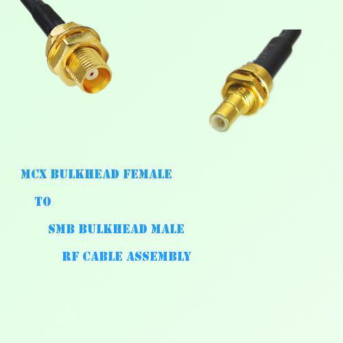 MCX Bulkhead Female to SMB Bulkhead Male RF Cable Assembly