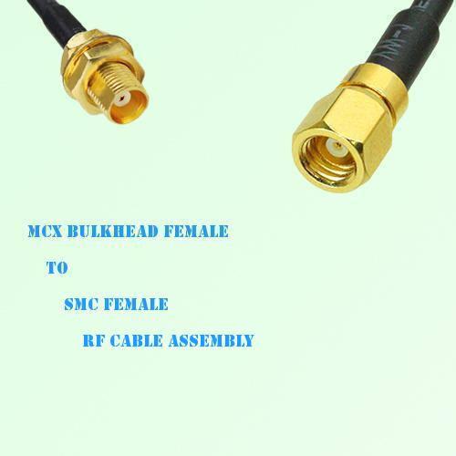 MCX Bulkhead Female to SMC Female RF Cable Assembly