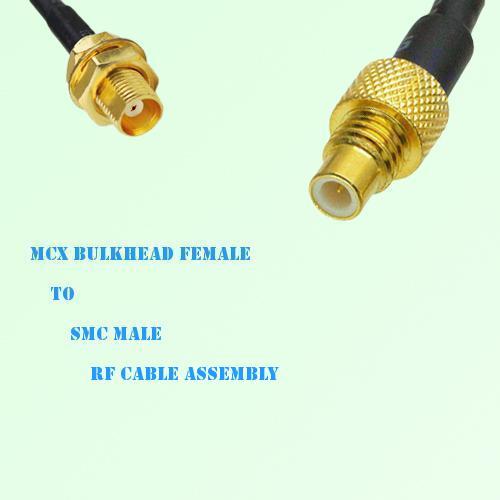 MCX Bulkhead Female to SMC Male RF Cable Assembly