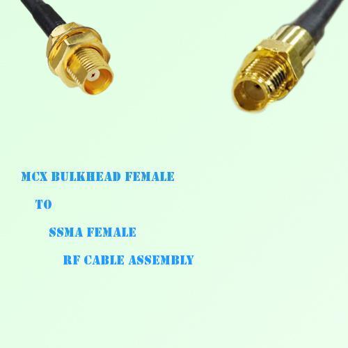 MCX Bulkhead Female to SSMA Female RF Cable Assembly