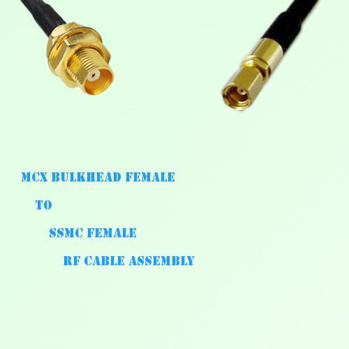 MCX Bulkhead Female to SSMC Female RF Cable Assembly