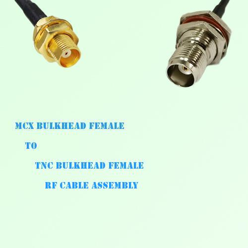 MCX Bulkhead Female to TNC Bulkhead Female RF Cable Assembly