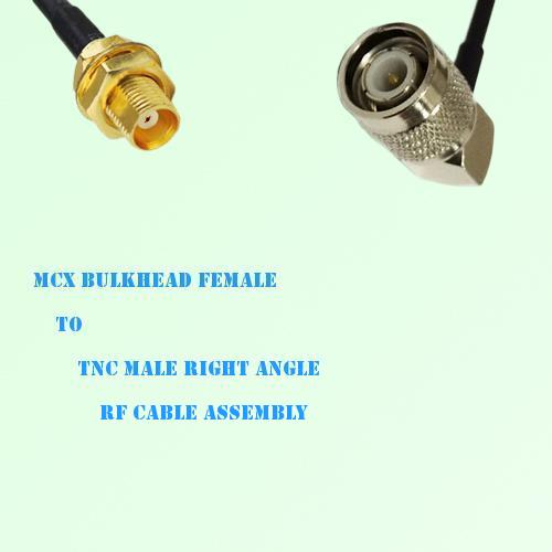 MCX Bulkhead Female to TNC Male Right Angle RF Cable Assembly