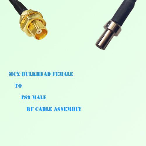 MCX Bulkhead Female to TS9 Male RF Cable Assembly
