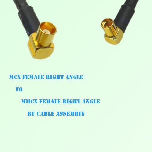MCX Female Right Angle to MMCX Female Right Angle RF Cable Assembly