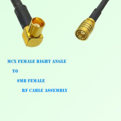 MCX Female Right Angle to SMB Female RF Cable Assembly