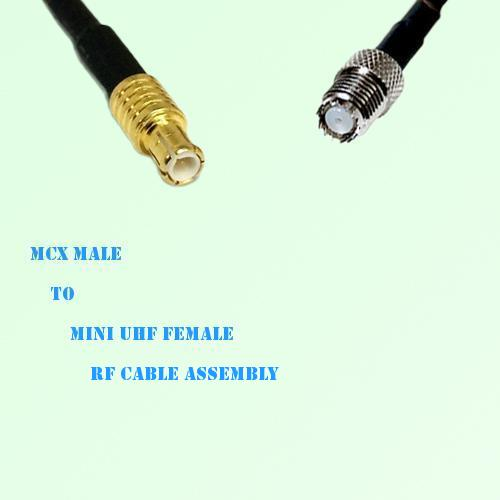 MCX Male to Mini UHF Female RF Cable Assembly