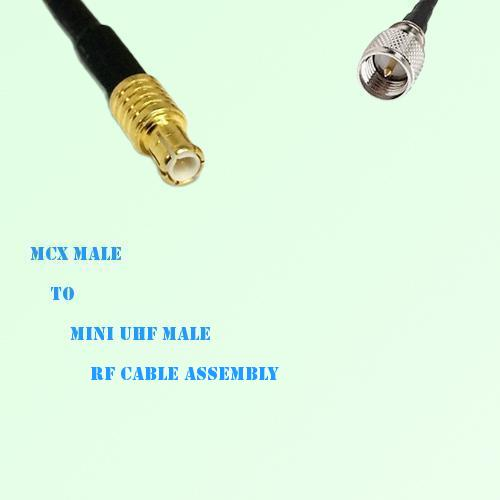 MCX Male to Mini UHF Male RF Cable Assembly