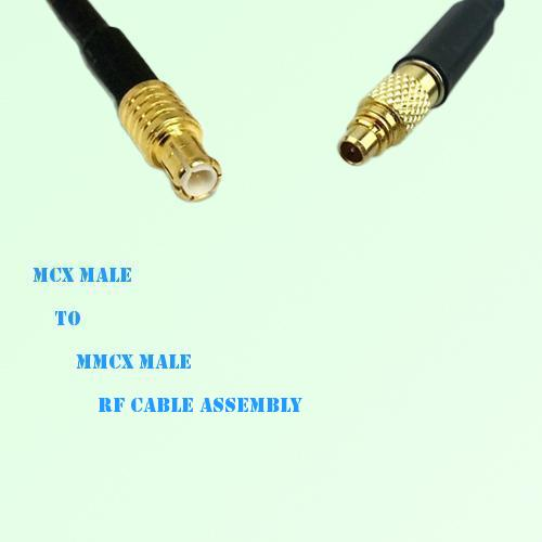 MCX Male to MMCX Male RF Cable Assembly