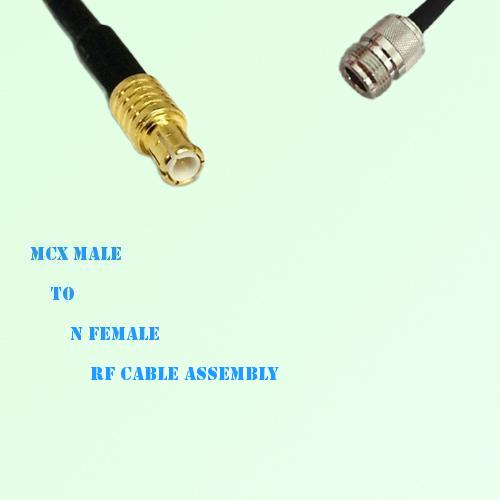 MCX Male to N Female RF Cable Assembly