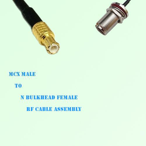 MCX Male to N Bulkhead Female RF Cable Assembly