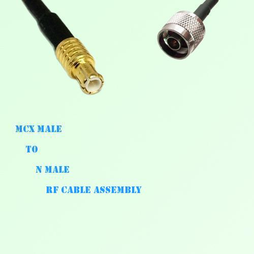 MCX Male to N Male RF Cable Assembly
