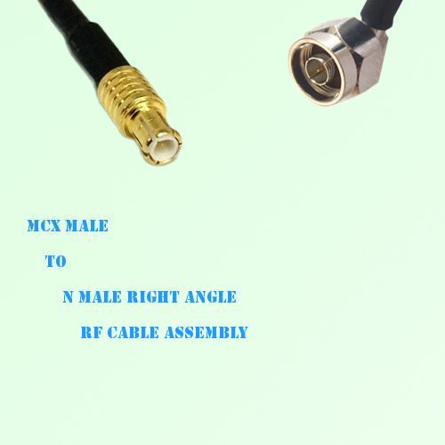 MCX Male to N Male Right Angle RF Cable Assembly