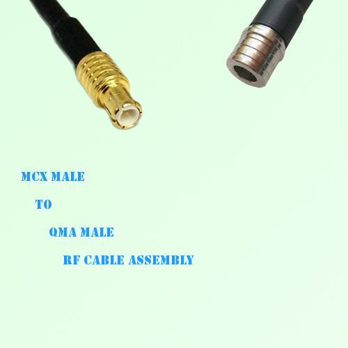 MCX Male to QMA Male RF Cable Assembly