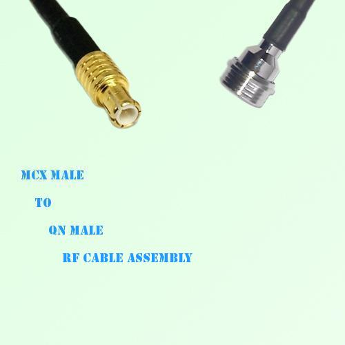 MCX Male to QN Male RF Cable Assembly