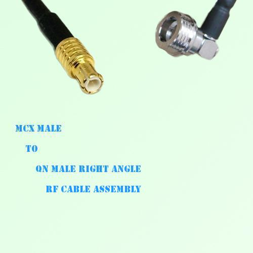 MCX Male to QN Male Right Angle RF Cable Assembly