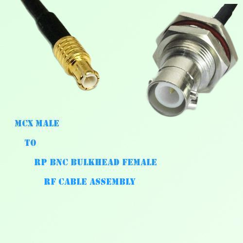MCX Male to RP BNC Bulkhead Female RF Cable Assembly