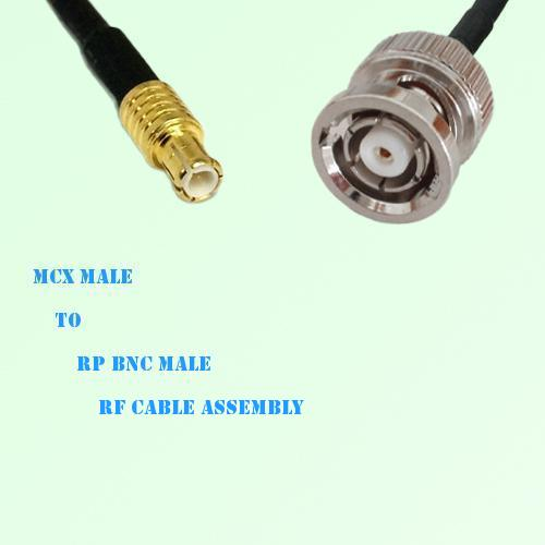 MCX Male to RP BNC Male RF Cable Assembly