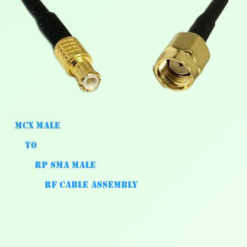 MCX Male to RP SMA Male RF Cable Assembly
